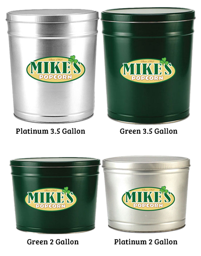 Mike's Popcorn All Tin Styles